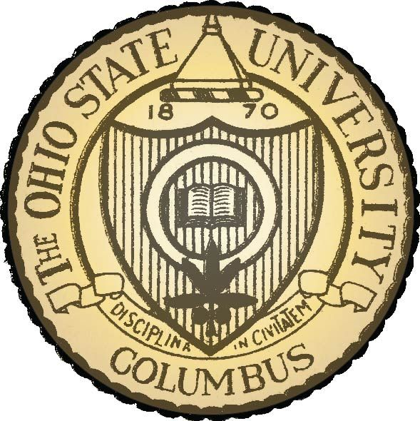 RP-1560 - Carved Wall Plaque of  the Seal of Ohio State University,  Artist Painted