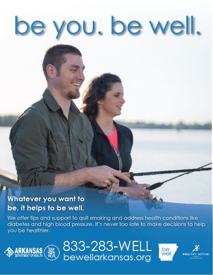 Be Well Fishing Poster