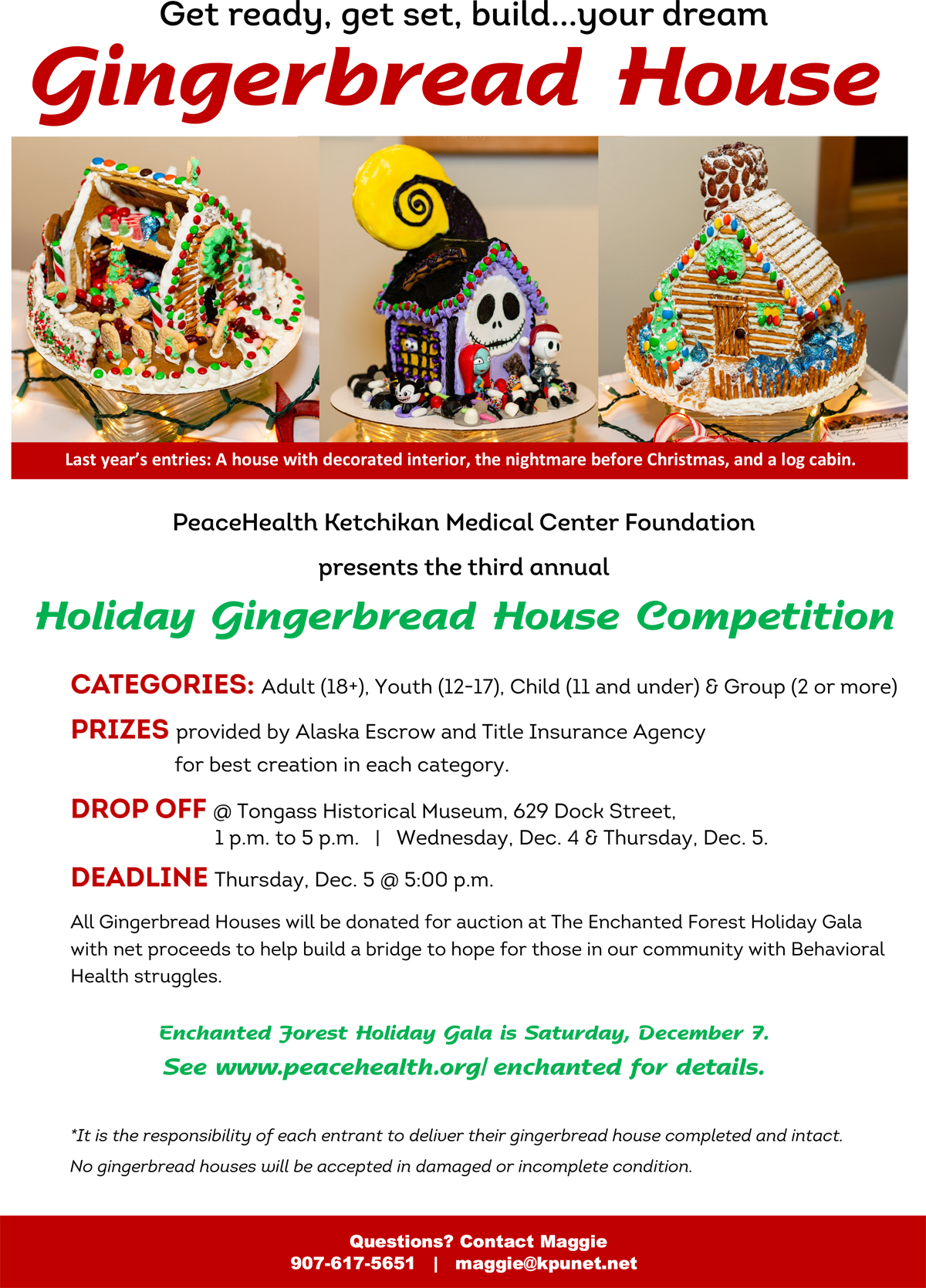 3rd Annual Holiday Gingerbread House Competition