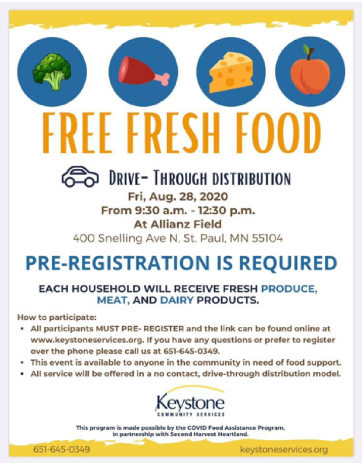 Free Food Distribution Event Set for August 28