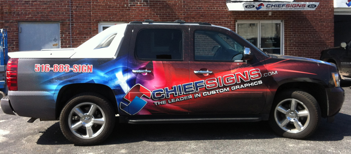 Chief Signs Full Car Wrap