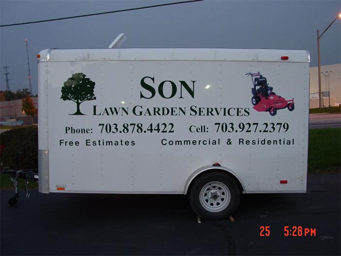 Son Lawn Service Trailer Graphics