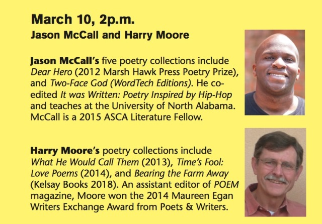 Writers to Readers at the Helen Keller Public Library featuring Jason McCall and Harry Moore