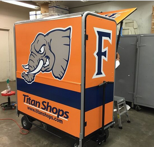 Concession Kiosk Wraps for Schools and Universities in Orange County