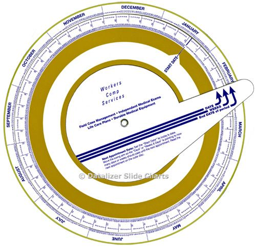 """8-1/2"""", 3-Dial Date Forecaster"""