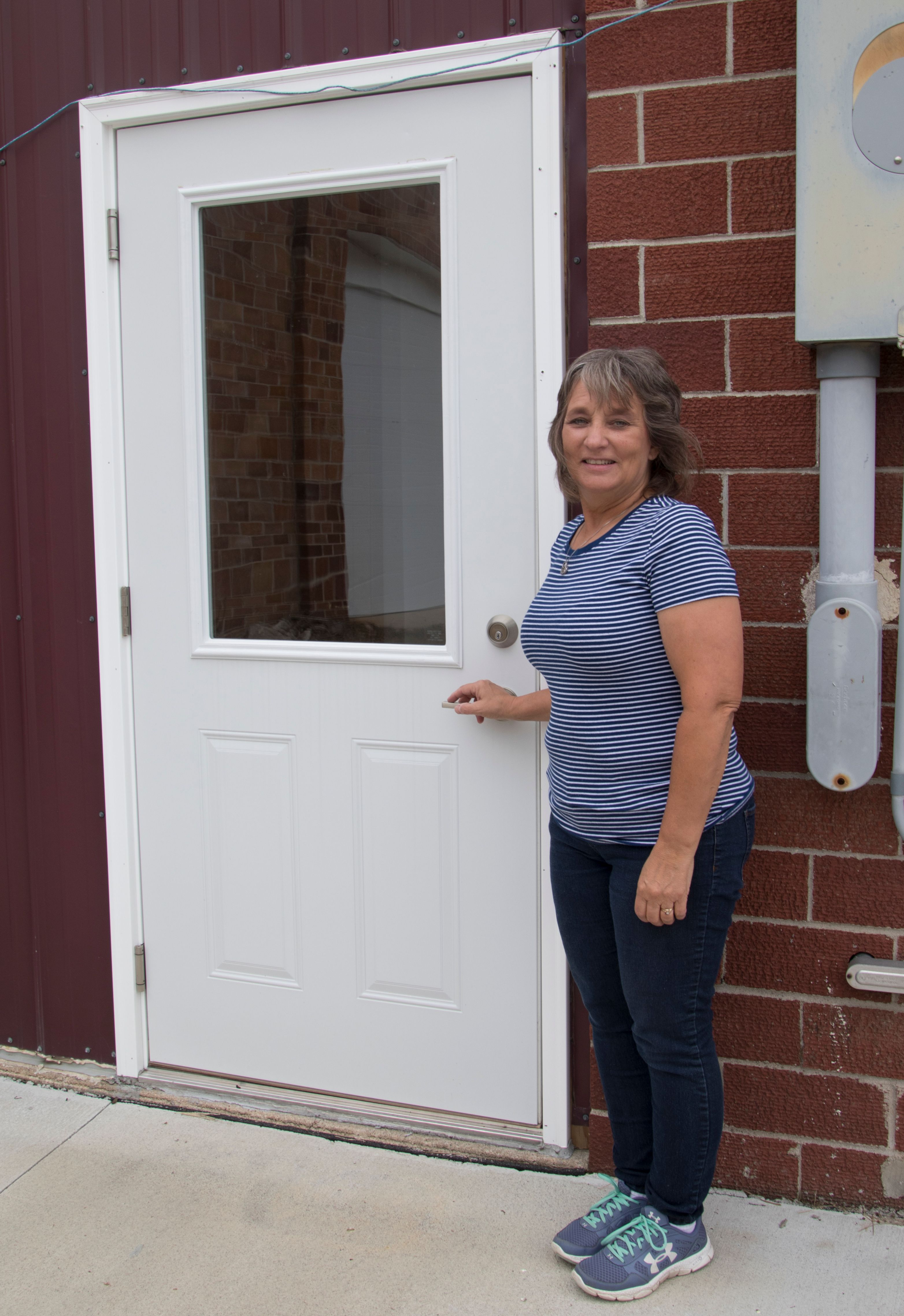 Village of Howells has new door thanks to Lean on LARM grant