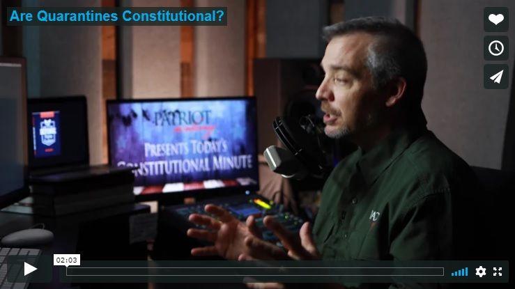 ARE QUARANTINES CONSTITUTIONAL?