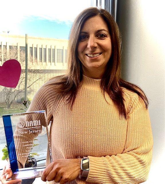Lara Zucker, CBH Care's IFSS Program Coordinator, honored by NAMI New Jersey