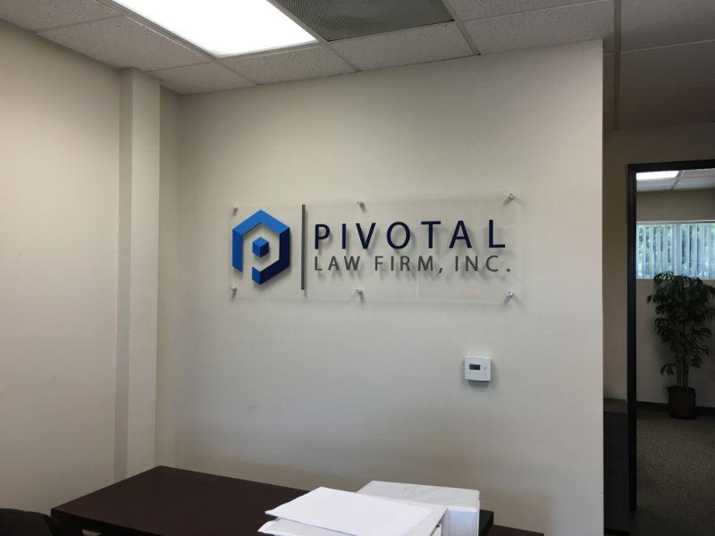 Office Lobby Signs Custom 3d Logo Wall Signs Irvine Ca