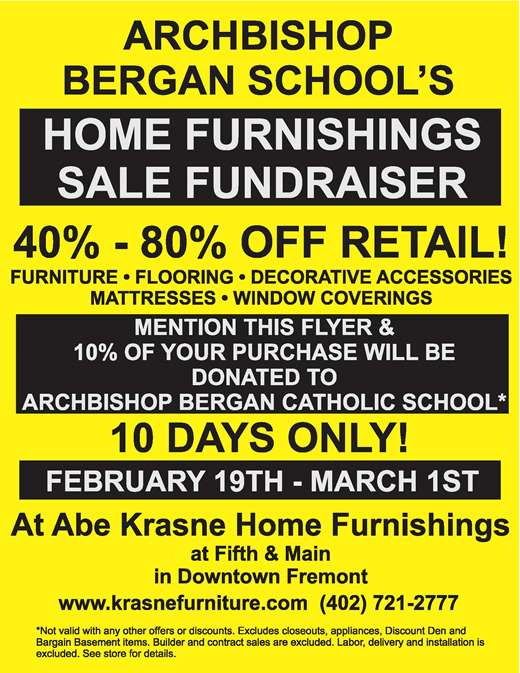 Home Furnishing Sale Fundraiser