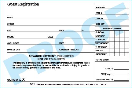 Standard 501 Form