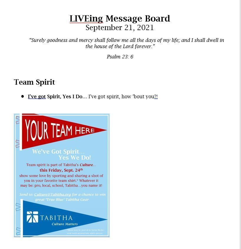 LIVEing Message Board