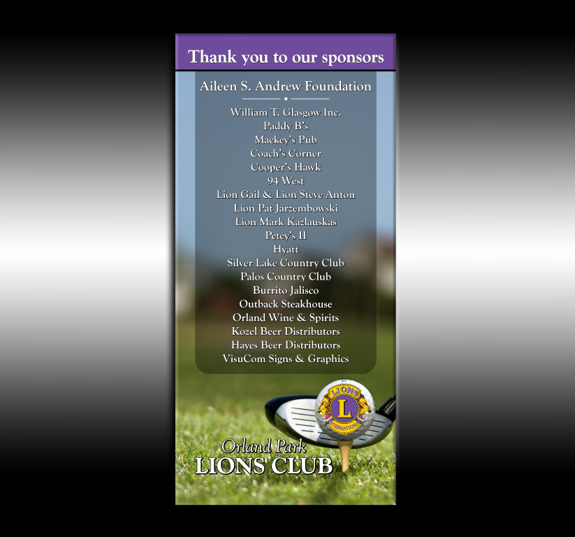 Lions Club Sponsors
