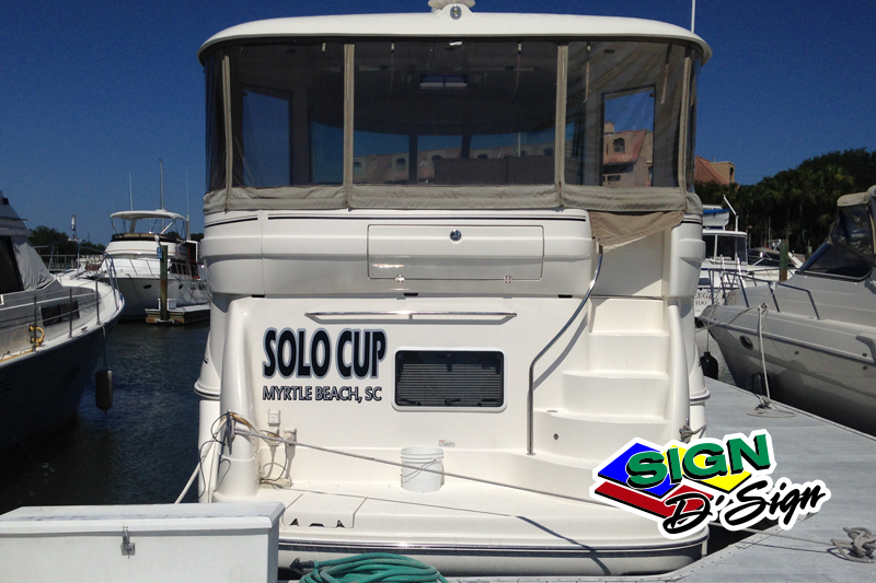 Solo Cup Boat Lettering
