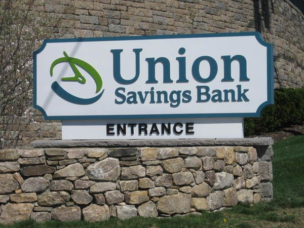 """Exterior Monument Sign, Non-Illuminated Fabricated Cabinet, Raised 3/8"""" thick Acrylic Letters"""