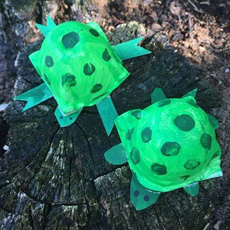 Egg Carton Turtles