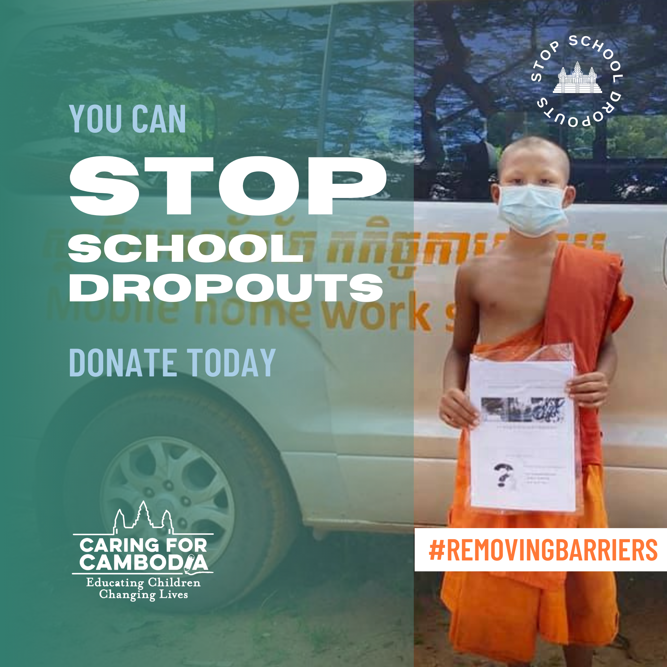 CFC Is #RemovingBarriers to Stop School Dropouts