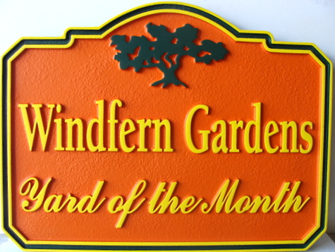 "KA20907 - ""Windfern Gardens"" HOA Yard-of-the-Month Sign"