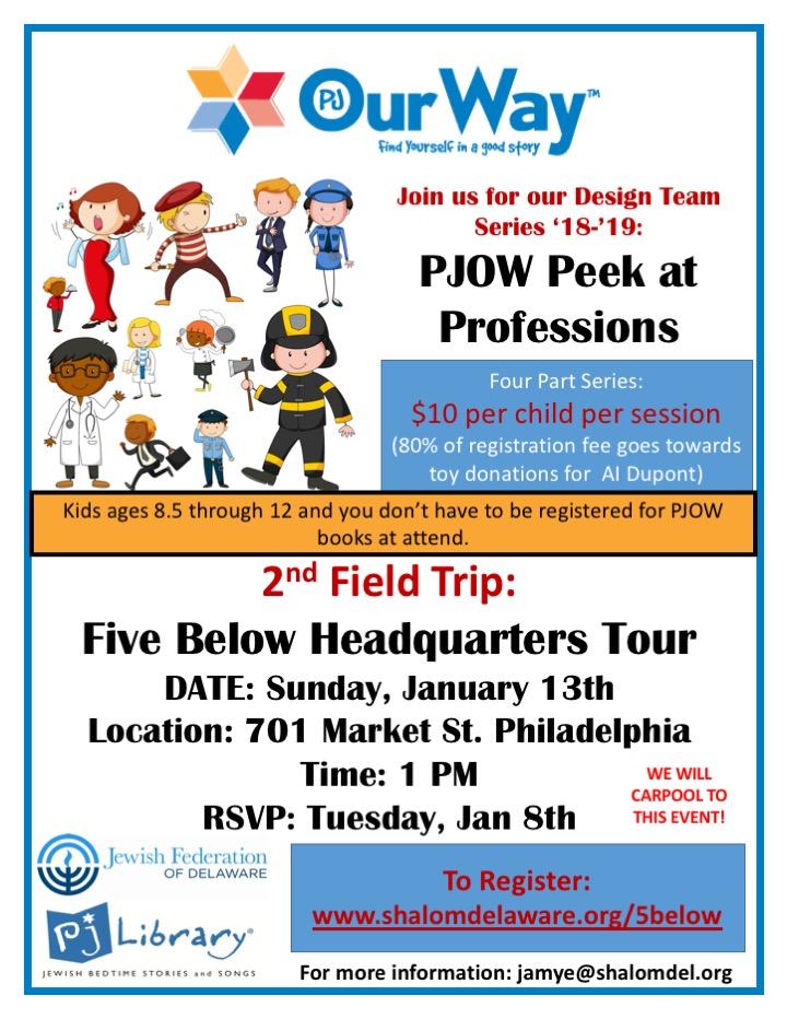 PJOW Peek at Professions-Five Below Headquarters Tour