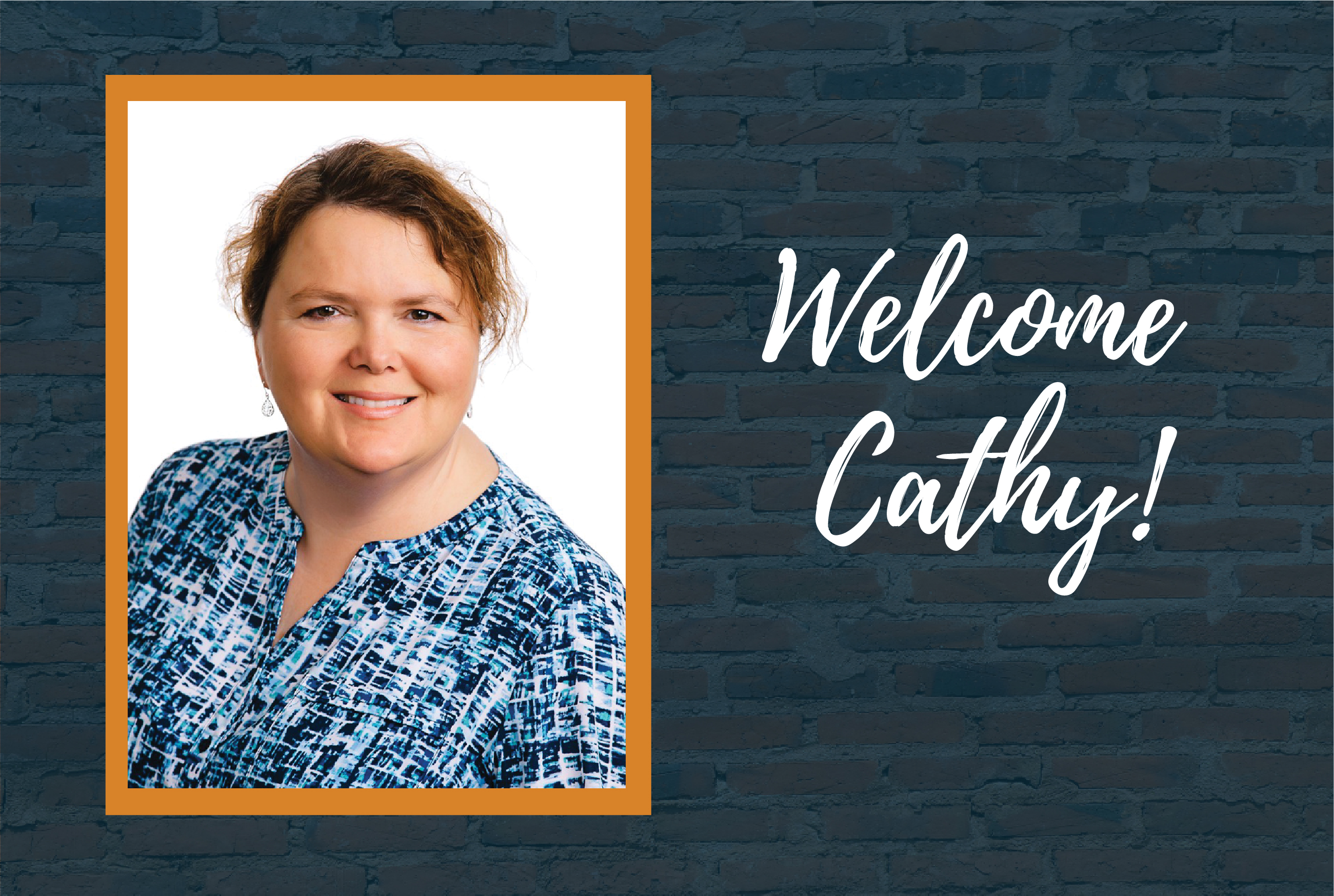 Help us welcome Cathy