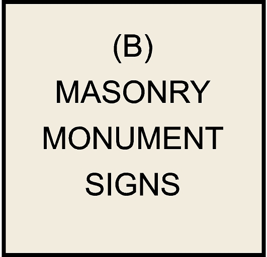 M6401 - Masonry  Monument Bases and Signs (click for description)