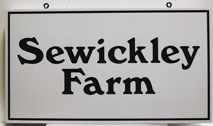"O24040 - Engraved HDU Entrance Sign for the ""Sewickley Farm"""