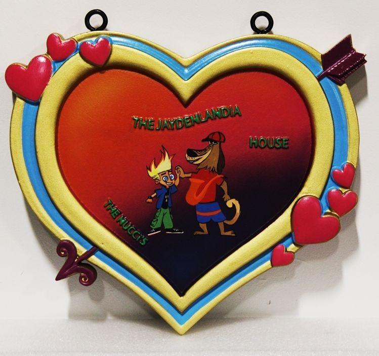 YP-2105 - Cupid's Heart Plaquefor the Jaydenlandia House