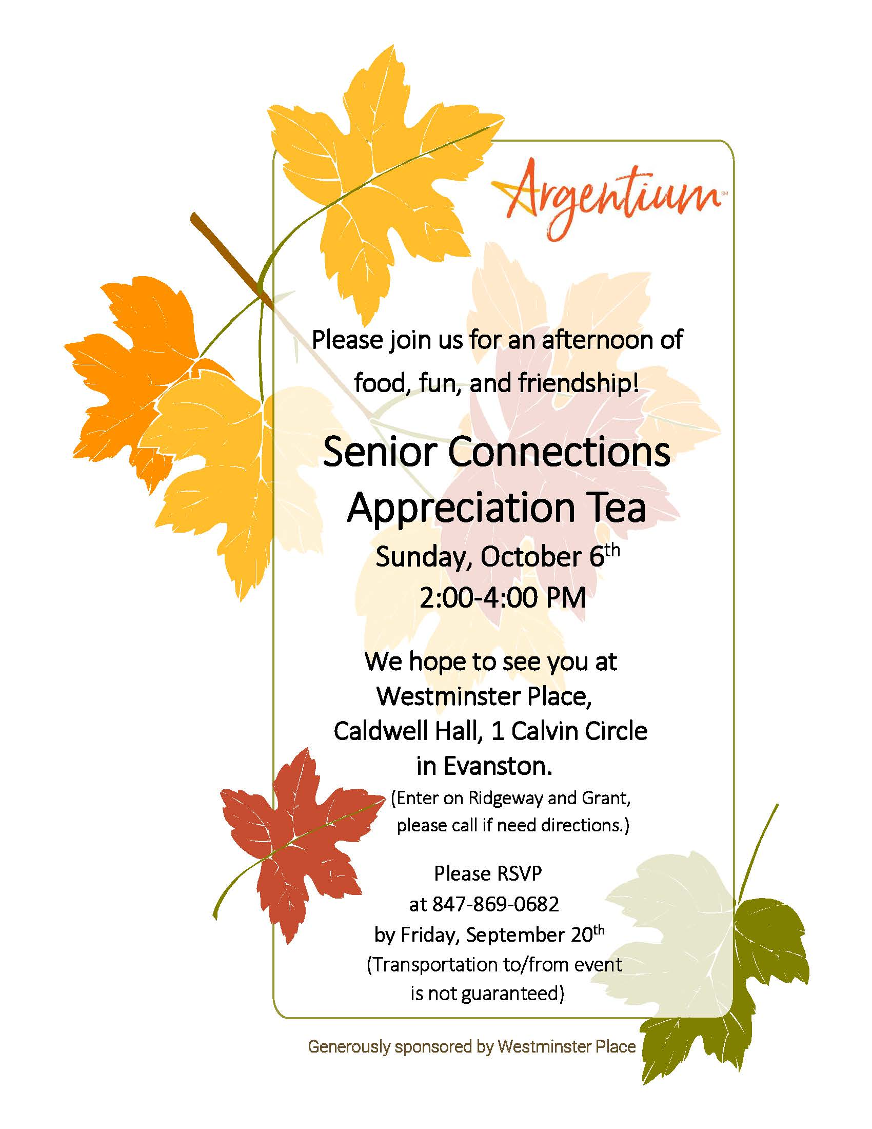 Senior Connections Appreciation Tea