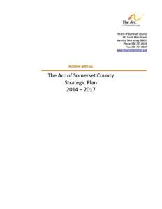 The Arc of Somerset County's 2014-2017 Strategic Plan