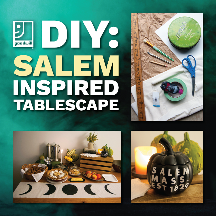Halloween DIY: Salem-Inspired Spooky Tablescape