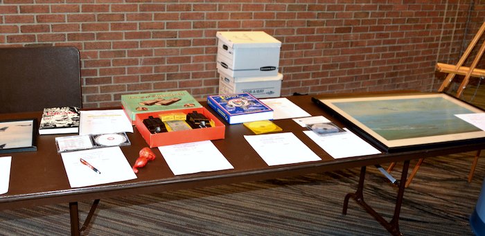 More items ready for bidding at the NCMF Silent Auction.