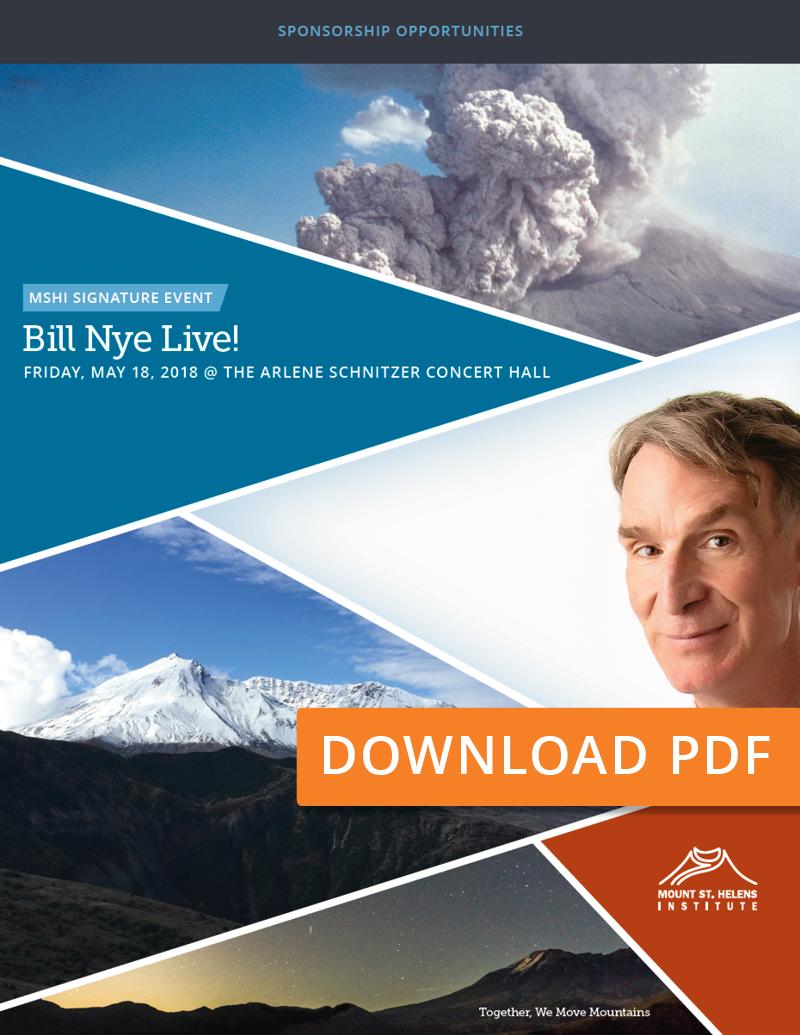 Bill Nye Live! Sponsor Packages