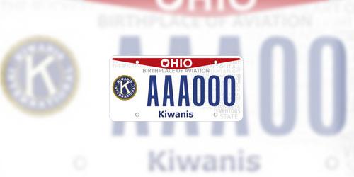 Ohio Kiwanis License Plate