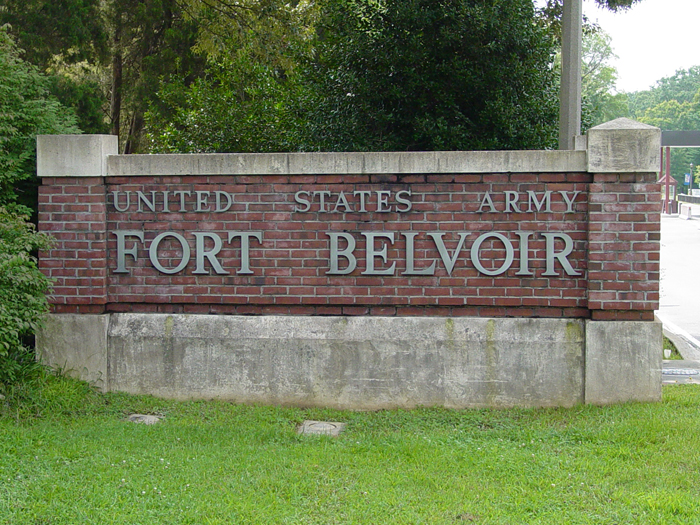 Fort Belvoir Entrance Sign