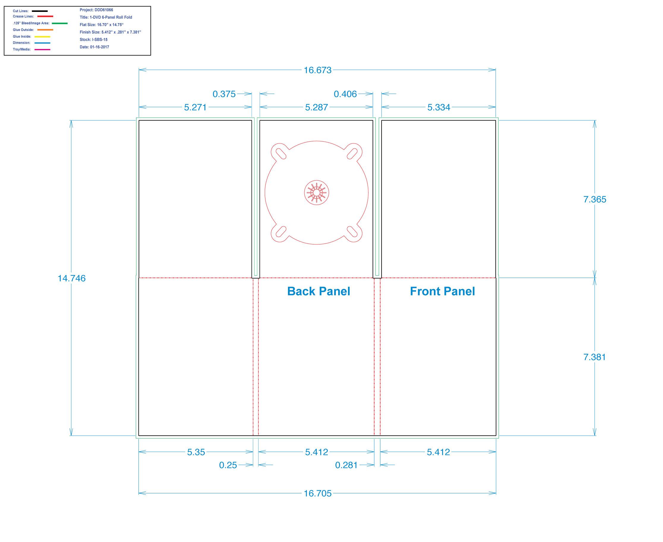 DDD61026 DVD 6 Panel Digi 1 Tray, No Pocket