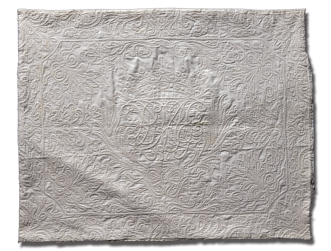 Fragment, maker unknown, made in Marseilles region, France, circa 1720-1740, 23 x 18.5 in, IQSCM 2006.028.0014