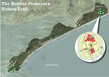 Bolivar Peninsula Nature Trail map