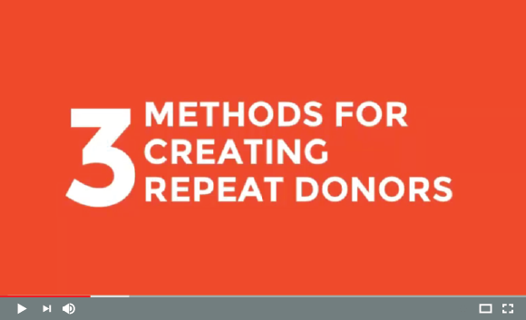 3 Methods for Creating Repeat Donors