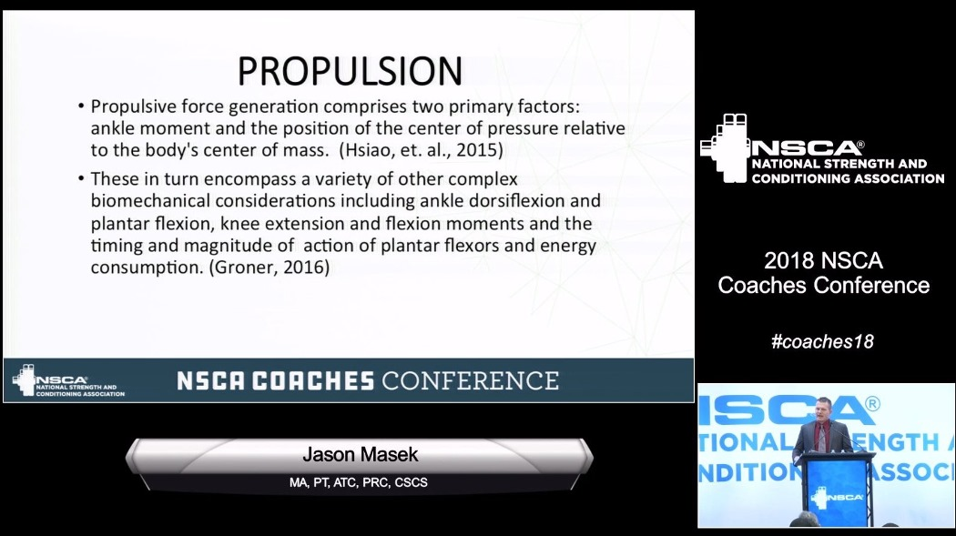 Jason Masek's Presentation From The 2018 NSCA Coaches Conference Is Now Online: Push, Pull, and Propulsion – The 10-20-30-40 Concept