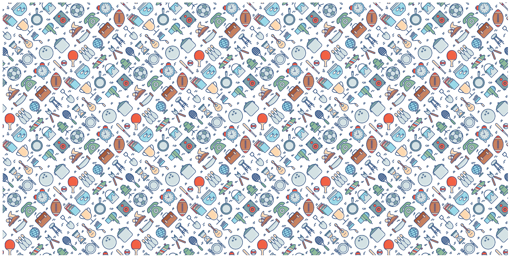 Graphic repeating  background with rummage sale items