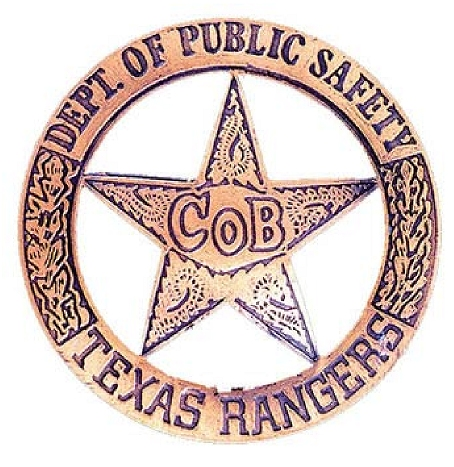 X33459 - Carved Copper-Coated Wall Plaque of Texas Ranger Badge