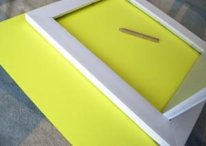 DIY framed shelves using paper