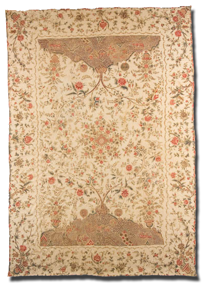 Palampore, Maker unknown, Fabric printed in India; Quilt possibly made in Pennsylvania, United States, Circa 1790-1830, IQSC 2006.004.0003
