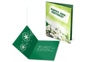 Custom Printed Greeting Card