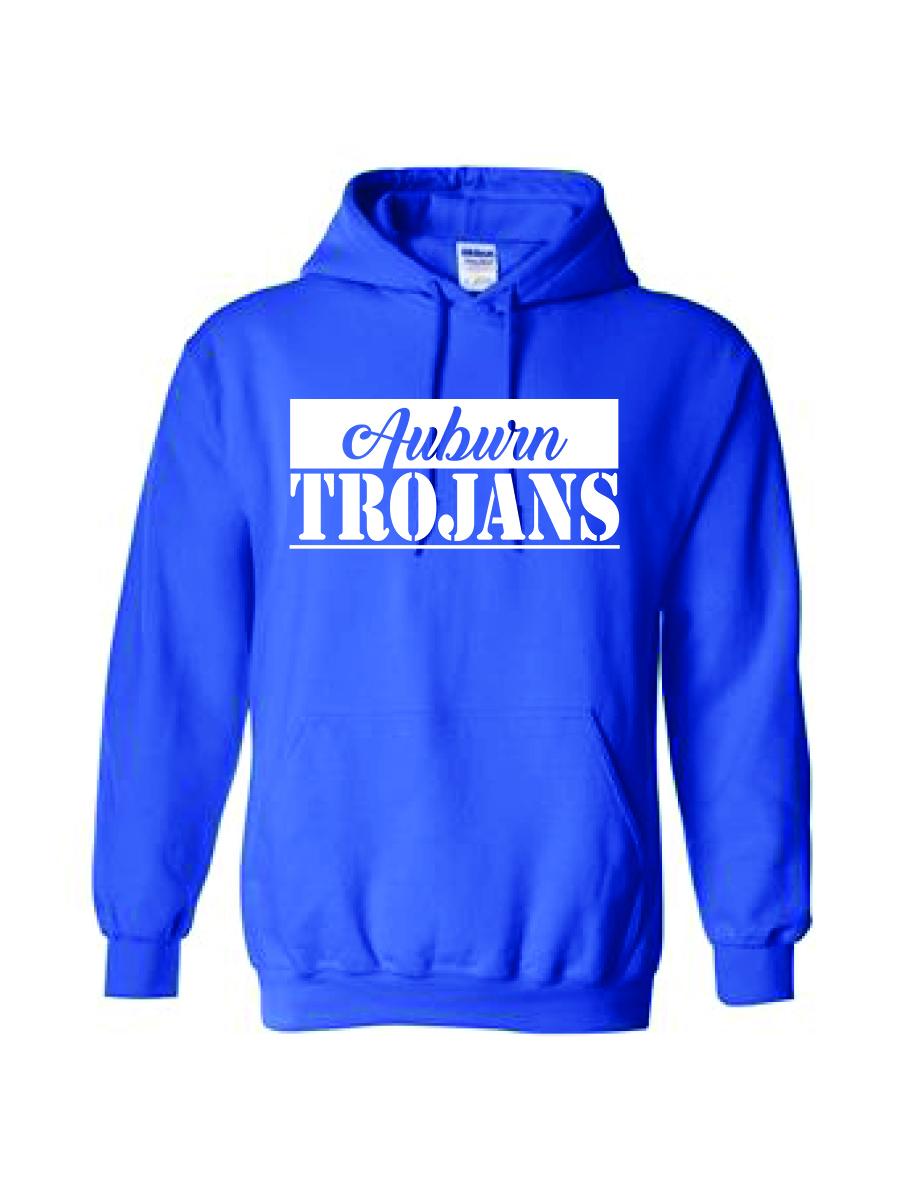 Auburn TROJANS Hoodie (blue)