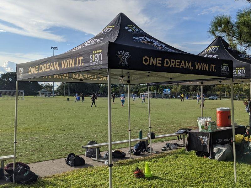 Event Tent & Table Throw Palm Beach Stars - Sign Partners West Palm Beach