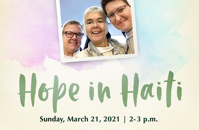 Hope in Haiti Virtual Event