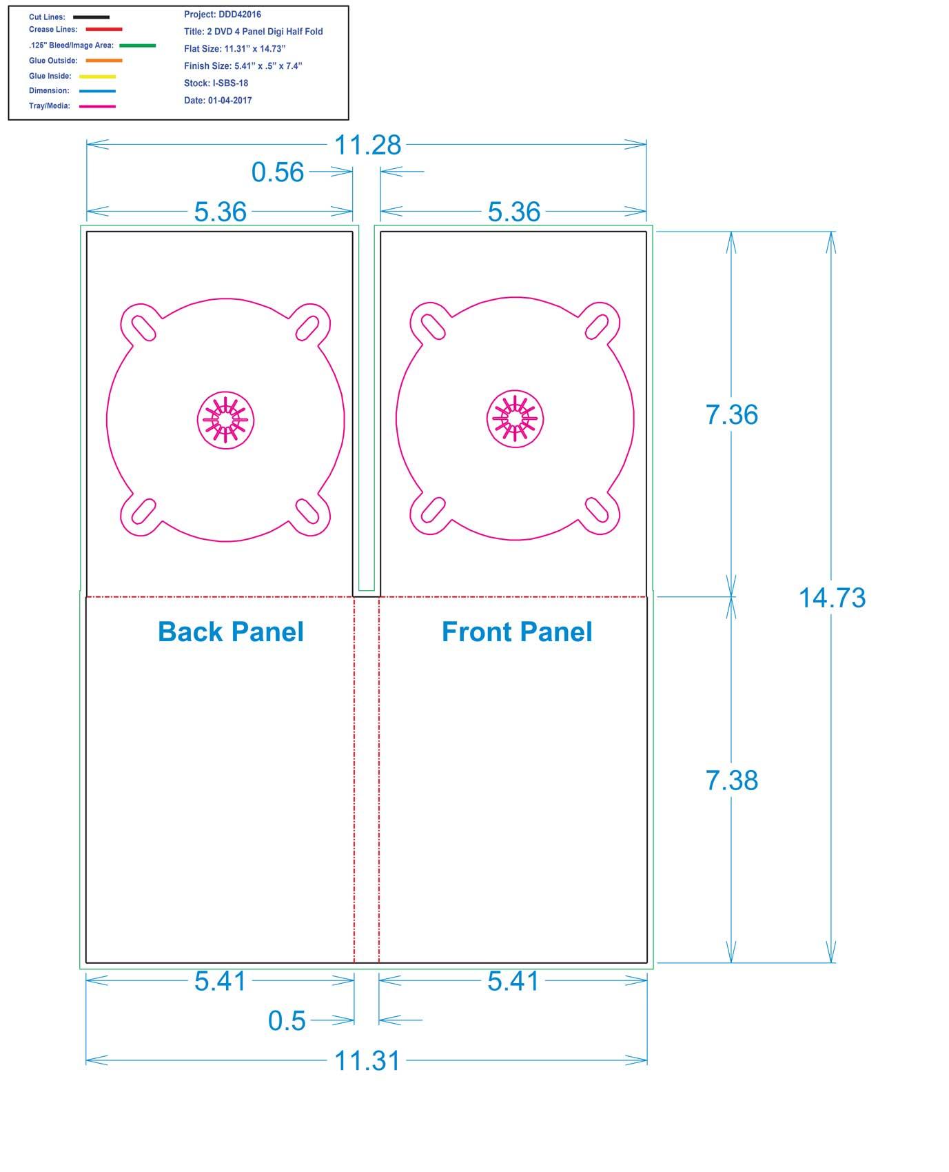 DDD42016 DVD 4 Panel Digi 2 Tray, No Pocket