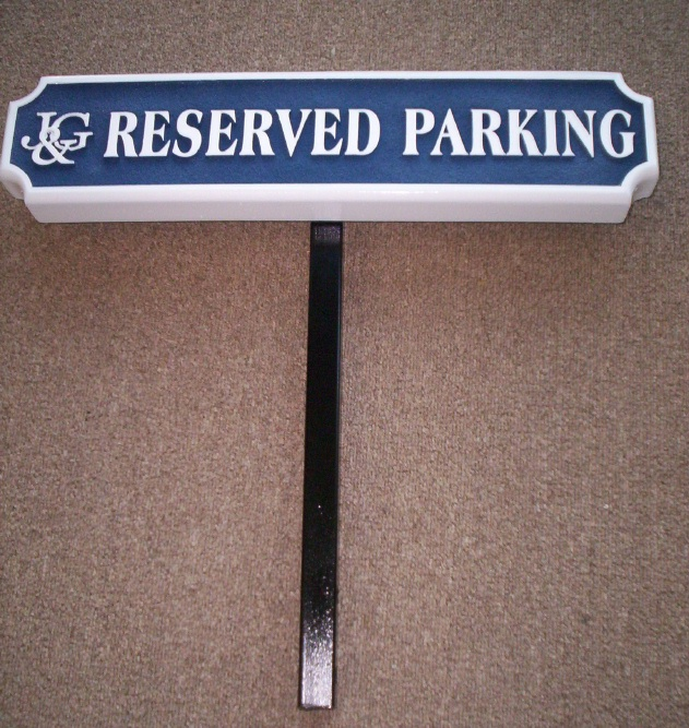 H17331 - Custom Reserved Parking Sign with Steel Post
