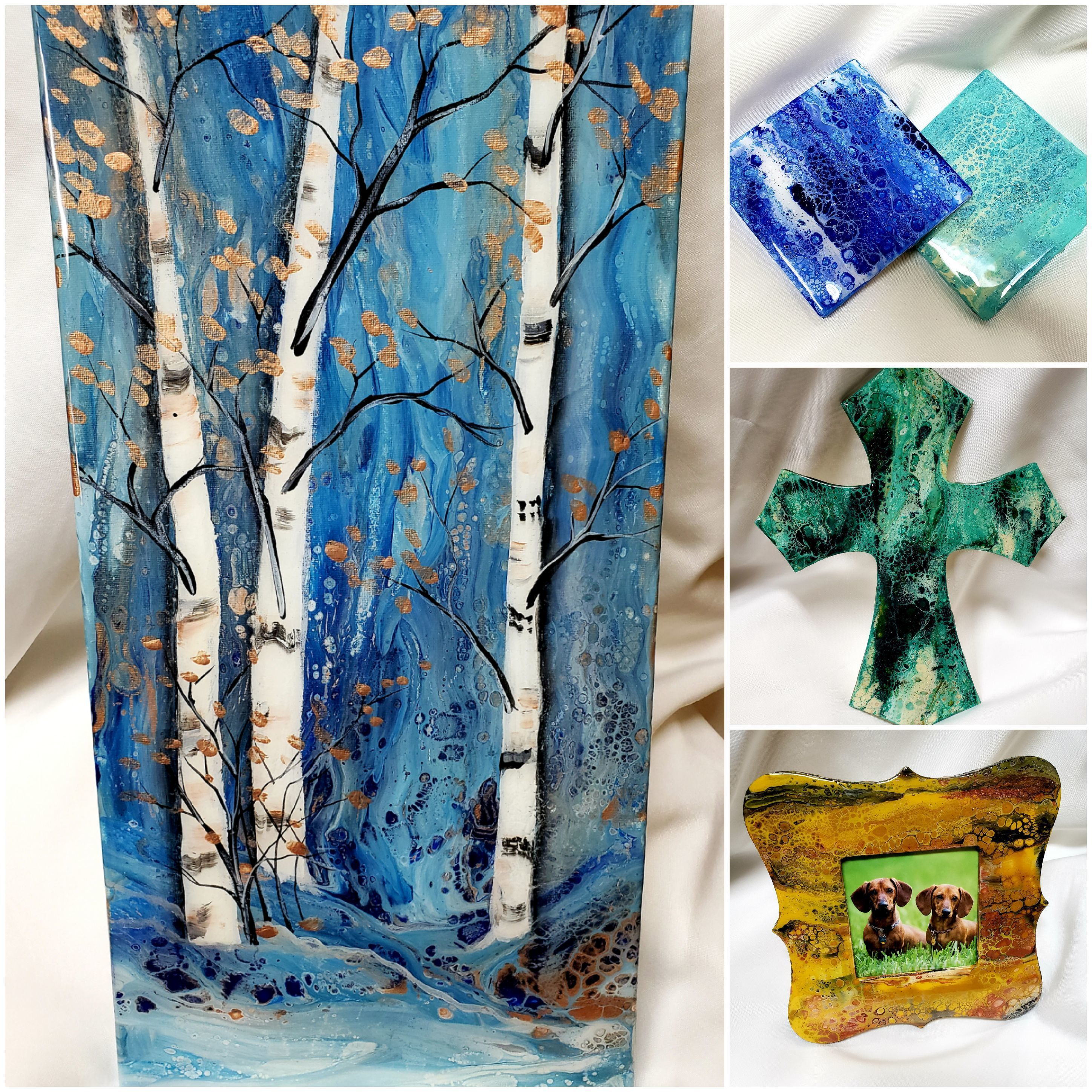 Acrylic Pour with Resin Mini Workshop with Linda Anderson-Paine